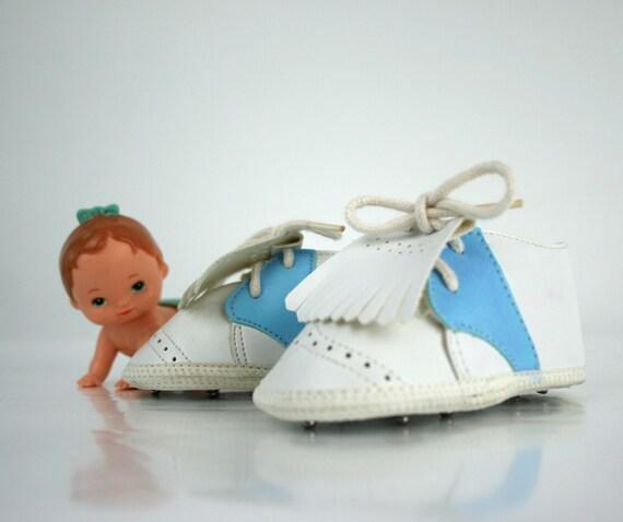 Vintage Baby Golf Shoe Lace Ups Size 2