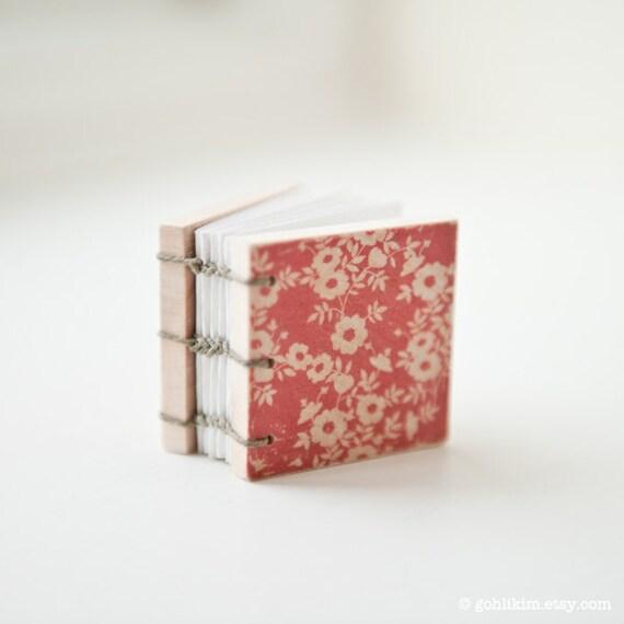 Handmade Miniature Artists Book - Floral
