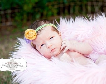 SALE - Baby Pink Faux Fur - Photography Prop - 18X30 - Nest size fur for Newborn photography Prop - long length - ready to ship