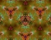 Prana Gold 2 Digital Art Print, Pyschedelic Art, Wall Art, Zen Art, Abstract Art , Yoga Art