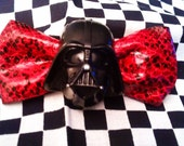 Star Wars Bow Darth Vader Bow Red Faux Leather Snake Skin Small