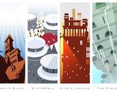 Mini-Print Game of Thrones Castle Series