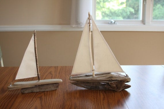 Not for Sale Reserved for N.B.  Driftwood Sailboat