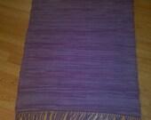 Purple rag rug