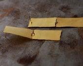 ON SALE, Free shipping, Long gold plated earrings, Dangle Eearrings,Bridal earrings, unusual gift