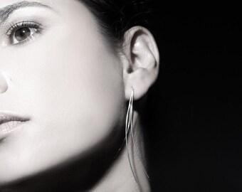 ON SALE, Free shipping, Long earrings, silver earrings, delicate earrings, Handcrafted jewelry,