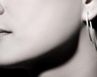 ON SALE, Free shipping, Bridal jewelry, bridal earrings, wedding jewelry, ear jacket, silver earrings, silver sterling,