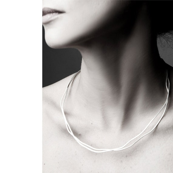 Free shipping, collar necklace, silver necklace, choker silver, trendy gifts