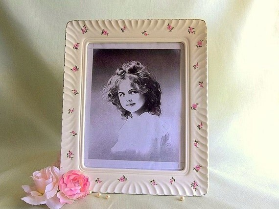 Vintage Shabby Chic Ceramic Picture Frame By