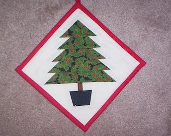 Christmas Handmade Quilted Tree Potholder