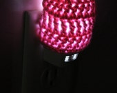 Pink LED Night Light Nursey Child's Room Lighting Unique Handmade Custom Sparkly