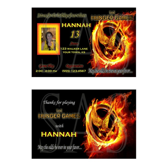 Items Similar To The Hunger Games Birthday Invitation And