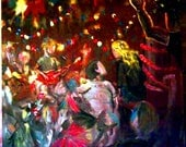 Punk/Mosh/Moment - Painting in Acrylic from the Extra Artist on the Set of Fat Kid Rules the World