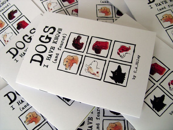 Dogs I Have Known (and feared) - illustrated zine, funny stories, phobia, family, labrador, dachshund, mongrel, boxer, terrier, spaniel
