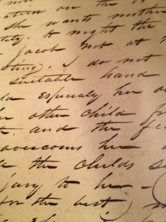 Vintage/antique letter dated Nov 28th 1843