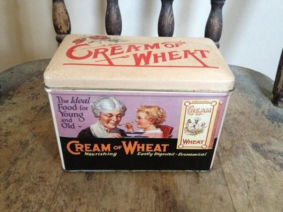 Vintage Cream of Wheat metal tin