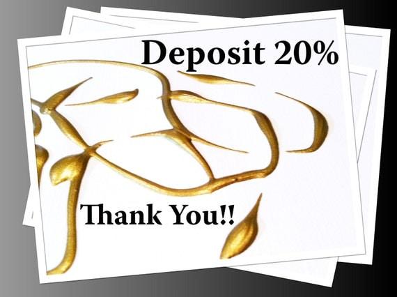 HOLD for Linda S. - Deposit Listing for Custom Art - Commissioned Painting - 20%