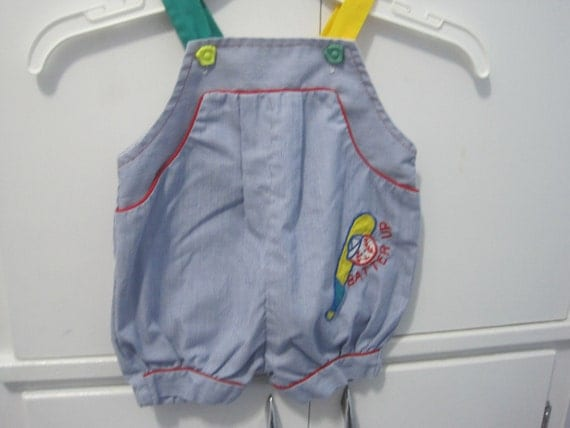 Vintage infant boys baseball shorts outfit- size 6-9 months