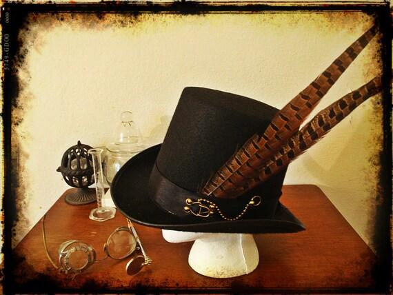 Steampunk Victorian Top Hat