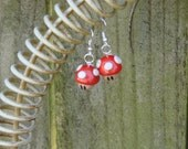 Super Mario Mushroom Earrings