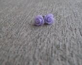 SALE - Lavender rose Earring - 10 mm