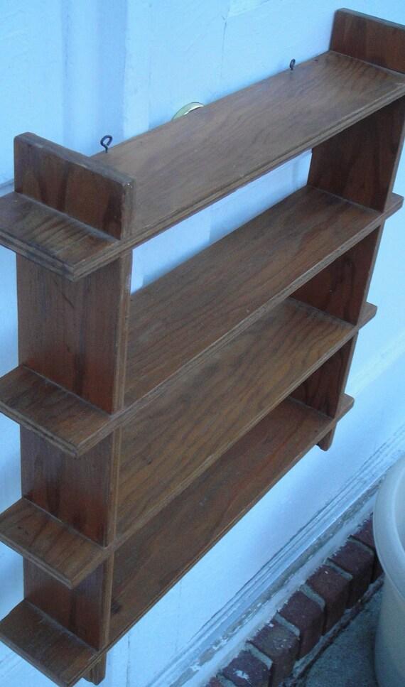 4 Level Wooden Hanging Shelf