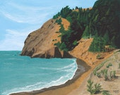 Kirby Cove in the Marin Headlands, San Francisco - Giclee Reproduction on watercolor paper 11x14