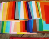 20 Sheets Large Colorful Origami Crane Paper XL 6 and 3/4 inch squares