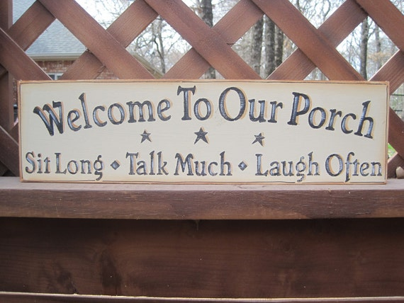 Porch Wooden Hanging Sign