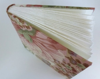 Hand Bound Art Journal, Pink Rose