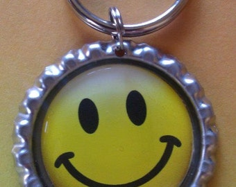 Smiley Face Keychain OR Zipperpull