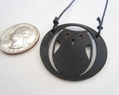 Recycled Record Owl Pendant