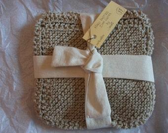 Washcloths or dishcloths( set of three)