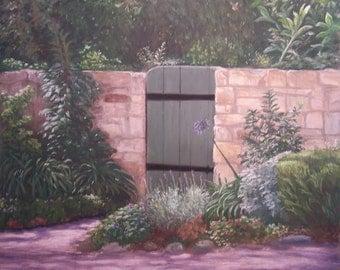 """Original Pastel Painting """"Carmel Hideaway"""" Framed Matted Landscape"""
