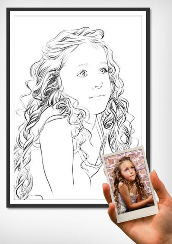 Custom portrait sketch for birthday, Christmas, anniversary,kids