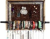 "12 1/2"" x 15 1/2"" Custom Barn Wood Jewelry Organizer"