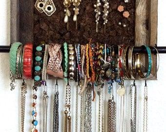 8x10 Barn Wood Jewelry Organizer