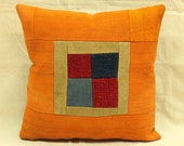 Hand Woven Turkish Kilim Patchwork Cushion/ pillow Cover- 16 x 16 inch FREE SHIPPING