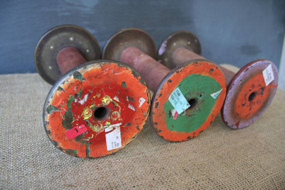on hold for Jenae Industrial Colorful Painted Large Thread Factory Spools
