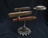 Rusty old railroad spike spaceship
