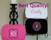 SET of 7 Monogrammed Bridesmaid Cosmetic Bags