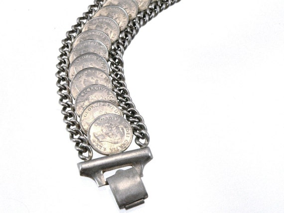 King George VI Memorial Bracelet, George Bracelet, Canadian Coin Bracelet