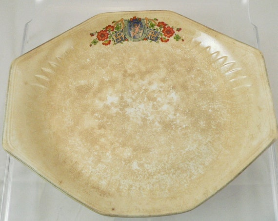 FINAL SALE Antique Good Luck Plate, Rare, Shabby French Chic Style, Collectible Plate