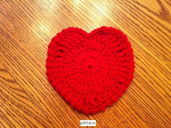 Lil' Heart Coaster- INSTANT DOWNLOAD PDF Crochet Pattern- ok to sell finished items