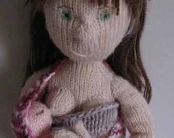Maya and baby Emma - knitting pattern