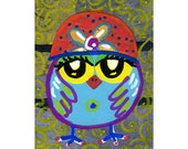 Childrens Room Decor, Owl Print, Animal Poster, Nursery Room Print, Kids Wall Art 20 x 30 by Paula DiLeo