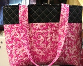 Made to order quilted Vera Bradley style purse/tote bag