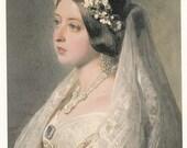Queen Victoria in Bridal Veil Post Card