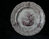 1830's Early Purple Mulberry Transferware Ridgway Persian