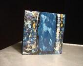 Acheron, Mini-Abstract Original Acrylic on Wood by Rachel Dickson